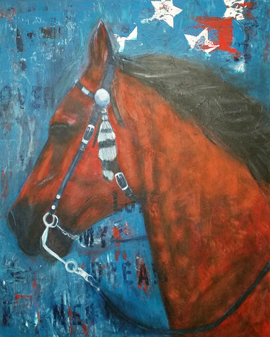 Original Kunstwerk, Unikat, Bildtitel: Sandokan, Acryl auf XL-Leinwand, 70x100 cm