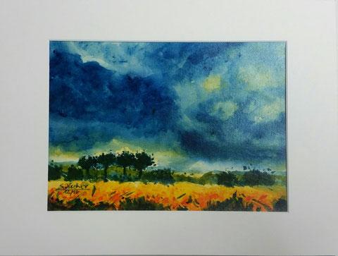Original Kunstwerk, Unikat, Bildtitel: Geh deinen Weg! Acryl auf Künstlerpapier, Format inkl. Passepartout 30x40 cm