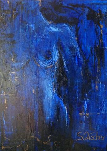 Original Kunstwerk, Unikat, Bildtitel: Hautnah, Acryl auf XL-Leinwand, 60x80 cm