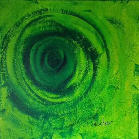 Original Kunstwerk, Unikat, Bildtitel: The Eye, Mixed Media auf XL-Leinwand, 80x80 cm