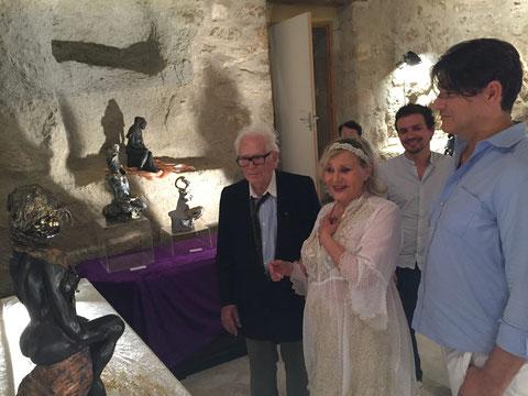 Renata entourée de Pierre Cardin et de son neveu Rodrigo...