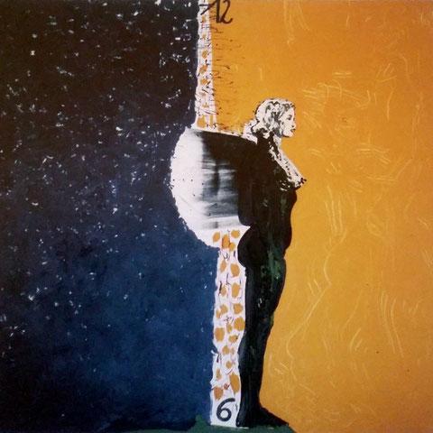 Zeit für einen Engel, Acryl auf Leinwand, 140 x 140 cm, 1996