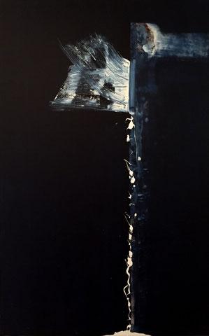 Empfindung von Zuneigung knapp entkommen, 160 x 100 cm, Acryl auf Leinwand, 1996