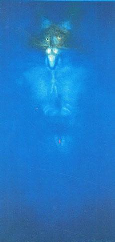 Empfindsamkeit und Kraft, Acryl auf Leinwand, 100 x 80 cm, 1994