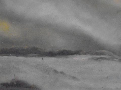 mer grise de nuages-huile-50x60-1977