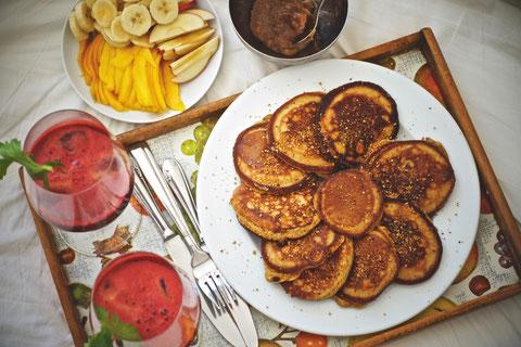 Dinkel Pancakes 1