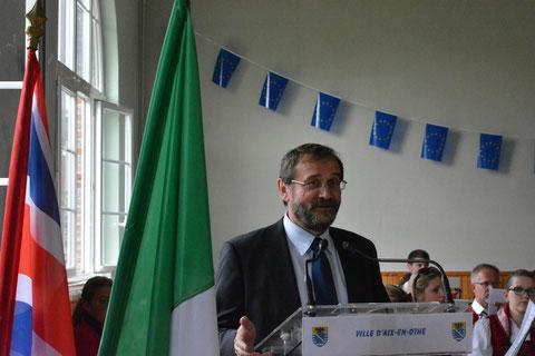 Marc Fournier, Président du Comité de Jumelage du Pays d'Othe