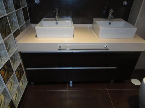 Mueble baño Wengue con silestone