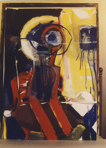 Körperaufgang, Gouache, H 100 x B 70, 1980