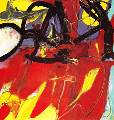 """Akrobat Schööön"", 1989, Öl/Leinwand"