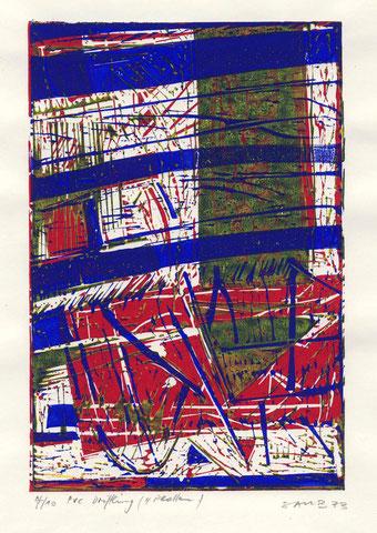 Linolschnitt Driftling 1973
