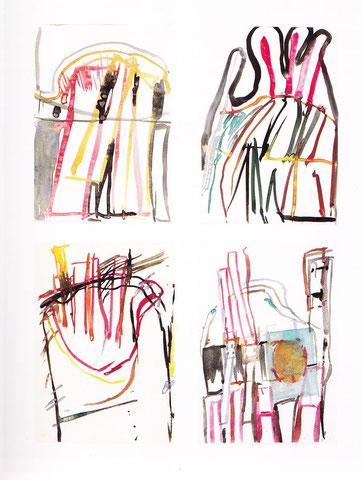 """Membranen"" 1-4, 1973 aus der Reihe ""Baustellenbilder"""