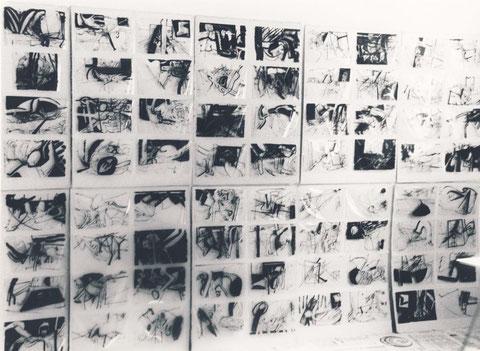 Foliografien im Atelier in Milbertshofen