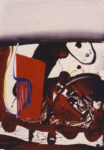 Gesichter, Gouache, H 60,5 x B 42,5, 1980