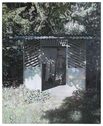 Unterer Schuppen, 180 x 145 cm, Öl auf Baumwolle, 2019