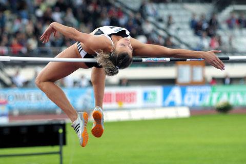 Natalya Dobrinska championne olympique toute en élégance au Décastar 2008