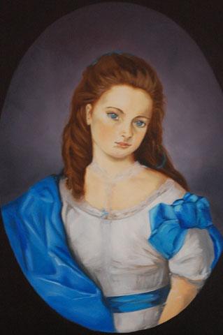 Tante Adélaïde, huile sur toile 54x73, 2006, collection particulière