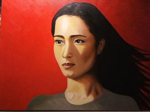 Chinoise, huile sur toile, 54x65, 2004 (vendu)