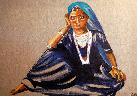 Indienne, huile sur toile 50x70, 2008