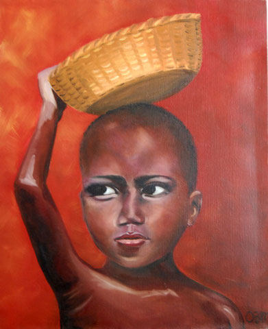 Agossou, huile sur toile, 2004