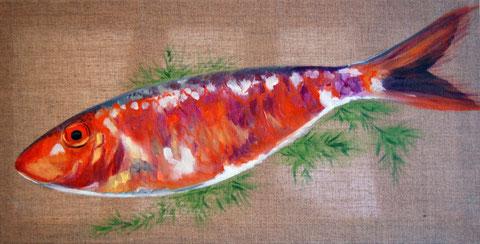 Rouget, huile sur toile 20x50, 2007