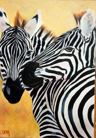 Zèbres; huile sur toile 54x73, 2005