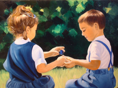 Les billes, huile sur toile, 2003