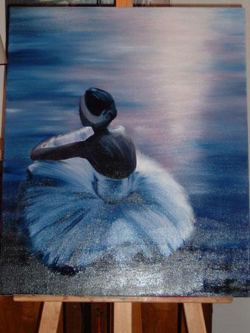 La danseuse, huile sur toile,54x65, 2005 (vendu)