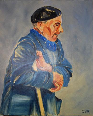 Vieux paysan, huile sur toile 54x65, 2007