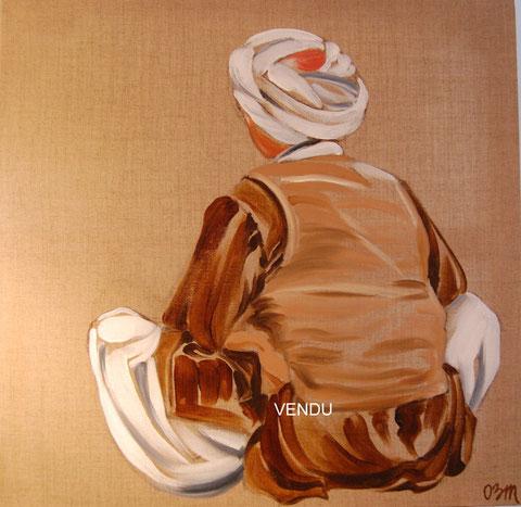 Méditation, huile sur toile 60x60, 2008 (vendu)