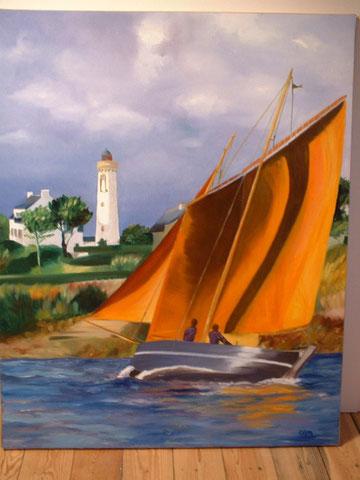 Le Sinagot, huile sur toile 65x81, 2000 (vendu)