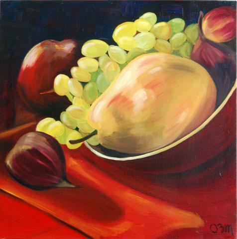 Nature morte d'Automne, huile sur toile 50x50, 2003