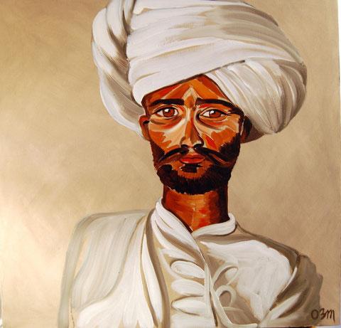 Le Maharajah, huile sur toile 60x60, 2007 (vendu)