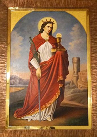 Św. Barbara, Patronka dobrej śmierci
