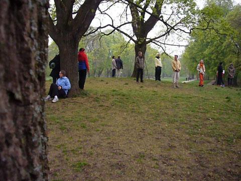 Als Gruppe im Park wahrnehmen