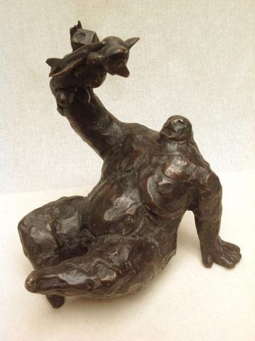 Gestürzter König, 1996, 18 cm