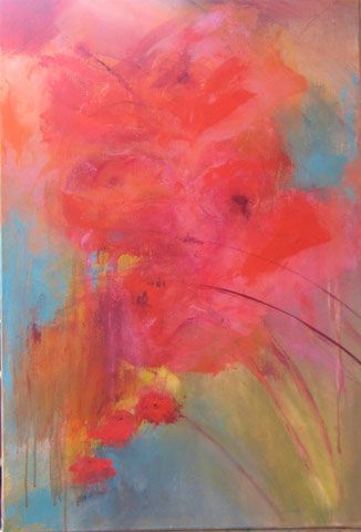 Florale I -  Acrylique sur toile - 50 x 70 -2012