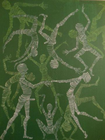 Movement II. 100 x 80 cm  Acryl