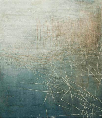 o.T., 2014 Mischtechnik auf Leinwand 130 x 150 cm