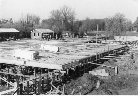 avancement des travaux en mars 1972