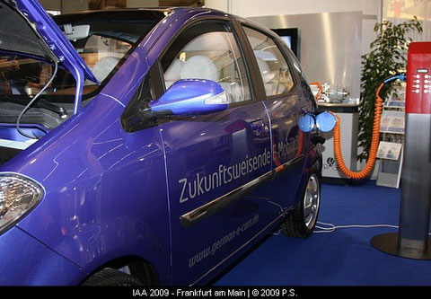 Benni, das Elektroauto der Fräger Gruppe, German e cars , IAA 2009