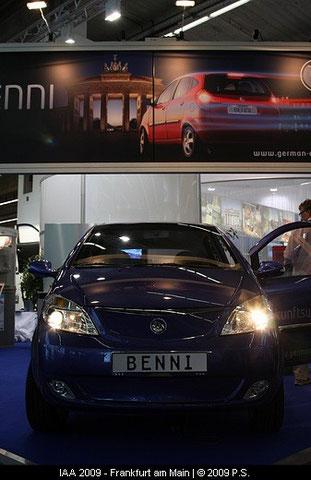 Benni das Elektroauto der Fräger Gruppe, German e cars , IAA 2009