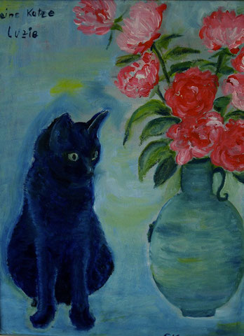 Meine Katze Luzie, 2007, Öl/LW 40x30 cm