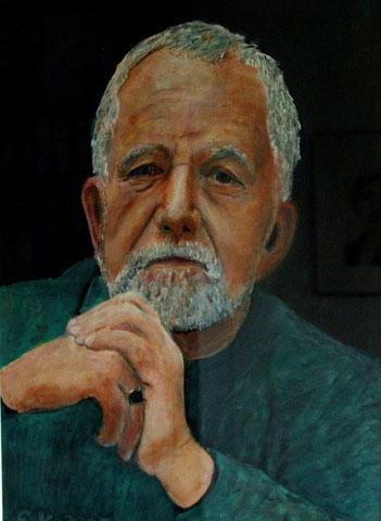 Rüdiger Safranski, 2007, Öl/Papier 42x29,7 cm