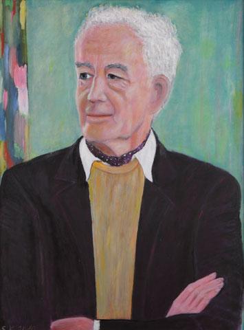 Manfred Osthaus im grünen Zimmer, 2009-2015, Öl/LW 80x 60 cm