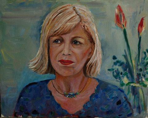 Selbstportrait,  2007, Öl/LW 40x50 cm