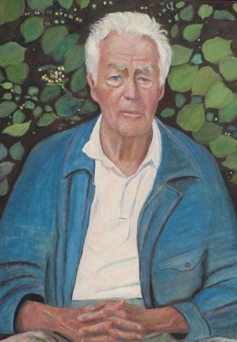 Manfred Osthaus traurig, 2012, Öl/LW 100x70 cm