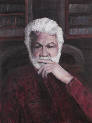 Jörg Huffschmidt Portrait, 2017, Öl/LW 80x60 cm