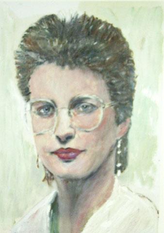 Sabine K., 2003, Öl/Papier 42x 29,7 cm