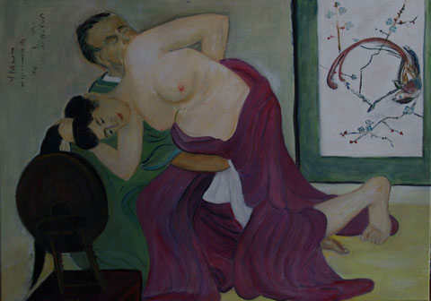 Liebschaften, 2009, Öl/LW 50x70 cm